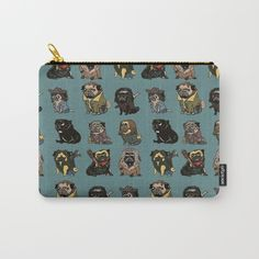 The Walking Pugs Pouch ~ $14 ~ Walking Dead Gifts! Walking Dead Gifts, The Walking Dead, Pugs, Zip Around Wallet, Coin Purse, Stuff To Buy, Walking Dead, Pug Dogs, Coin Purses