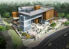 Office Building Architecture, Building Facade, Chinese Architecture, Concept Architecture, Sustainable Architecture, Amazing Architecture, Architecture Details, Building Design, Modern Architecture