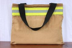 Recycled Fire Gear Tote Bag carry all shopping bag by Reskugear, $95.00