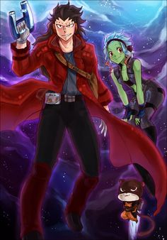 "Fairy Tail Guardians of the Galaxy crossover ""I am Star-Lord. Gale Fairy Tail, Fairy Tail Funny, Fairy Tail Natsu And Lucy, Fairy Tail Girls, Fairy Tail Couples, Fairy Tail Ships, Fairy Tail Anime, Fairy Tales, Star Lord"