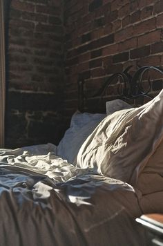 | early morning | unmade bed | - feelathomeinterior