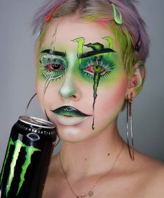 Slaybyestell Blush Palette Vegan and Cruelty-Free Edgy Makeup, Eye Makeup Art, Scary Makeup, Horror Make-up, Zombie Makeup Tutorials, Cool Halloween Makeup, Halloween Zombie, Halloween Costumes, Monster Energy