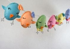"chickens or eggs        ""Easter Chick"" Garland by RawBoneStudio    Happy Easter!!!"