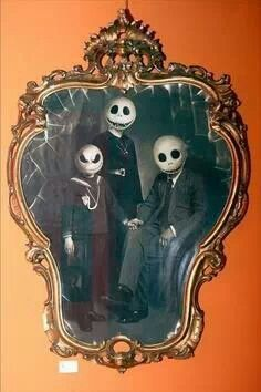 Dark art. Nightmare before Christmas family