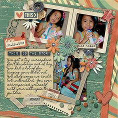 layout using CAPTURING LIFE- JANUARY  by Blagovesta Gosheva At Scrapbookgraphics. On sale at 20% off. Includes 25 papers and 90 elements.
