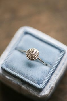 14k White Gold Ring Thin Stacking Ring Delicate by AmuletteJewelry