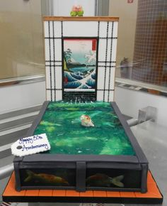 Koi Pond cake replica now that's a cool cake