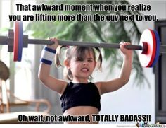 Fitness Motivation : so cute! Let's get more girls weight lifting! Humour Fitness, Gym Humour, Fitness Quotes, Health Fitness, Fitness Diet, Fitness Gear, Exercise Humor, Exercise Quotes, Fit Quotes