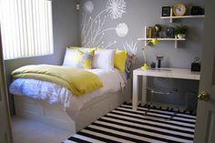 Teenage Bedroom Ideas for Small Rooms . Teenage Bedroom Ideas for Small Rooms. Pin On Decor Teenage Girl Bedroom Designs, Small Bedroom Designs, Small Room Bedroom, Home Bedroom, Girls Bedroom, Bedroom Yellow, Spare Room, Girl Rooms, Ikea Bedroom