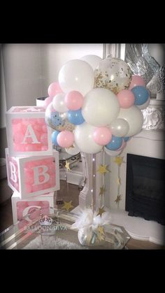 Baby Shower Decorations - Clear Letter Boxes Can be filled with balloons, pompoms or small toys Size: x inch x 30 cm) Colors: White Materials: Plastic Gender: Unisex Age Range: years old Mermaid Baby Showers, Baby Mermaid, Star Baby Showers, Mermaid Princess, Shower Bebe, Baby Boy Shower, Baby Shower Gifts, Baby Shower Princess, Shower Party