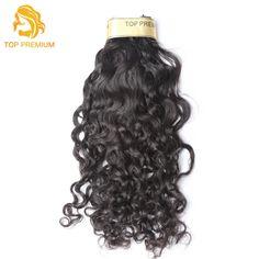 TOP PREMIUM Water Wave Human Hair Malaysian Virgin Human Hair Extensions 3 Bundles/lot Natural Color Free Shipping
