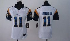 9588f4bcb Nike Rams  11 Tavon Austin White Women s Embroidered NFL Elite Jersey And  Browns Jabrill Peppers