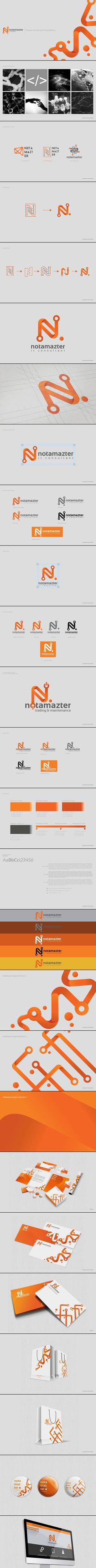 Cool Brand Identity Design on the Internet. Notamazter. #branding #brandidentity #identitydesign