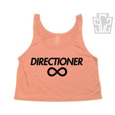 "One Direction ""Directioner"" Cut Off Flowy Tank Top - 1D Summer Trends,... ($19) ❤ liked on Polyvore featuring tops, shirts, one direction, 1d, cut off tank top, cut off top, summer tops, coral shirt and cut off tank"