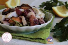 SECONDI PIATTI DI NATALE My Favorite Food, Favorite Recipes, Antipasto, Calamari, Dukan Diet, Italian Cooking, Menu, Potato Salad, Seafood
