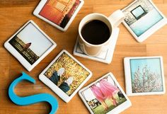 polaroid ceramic coasters - Maybe Jessica can take some pictures for this...