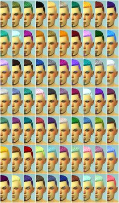 Hey Guys! I've been working on a really big project lately. I came up with a color palette to create some Berry Recolors for hair. This also includes the base game hair colors! I plan on d… Not So Berry Sims 4