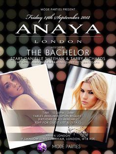 Tabby Richards & Danielle Sheehan at Anaya London #bacheloruk #anaya #modeparties #friday