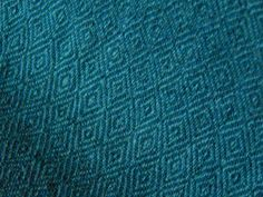Hand woven 100% wool Med/Dark Green Diamond by WovenbyElspeth  Apron Possibility