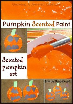 pumpkin scented paint Fall activity