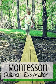 Exploring the outdoors is a daily occurrence at our house. Check out some great Montessori Outdoor Exploration ideas from ChildLedLife.com