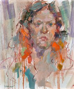Allie Red by Lon Brauer Oil ~ 24 x 18 Multimedia Arts, Figure Painting, Color Mixing, Artwork, Artist, Red, Internet, Portraits, Art