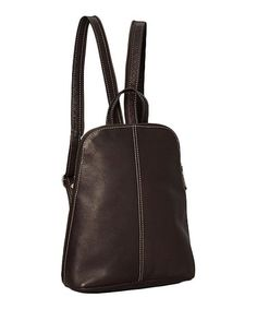 This Café U-Zip Sling Leather Backpack is perfect! #zulilyfinds  $59.99