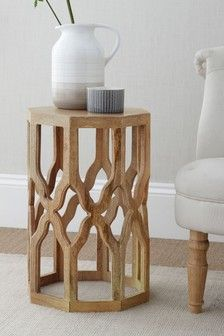 Buy Inder Side Table from the Next UK online shop 3 Drawer Bedside Table, Side Table With Drawer, Bedside Tables, Glass Table, A Table, Silver Living Room, Mahogany Color, Sideboard Cabinet, Living Room Colors