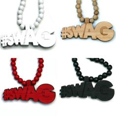 Wood Junkie Necklace #Swag II - Urban Classics-Shop.nl