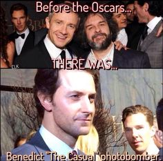 Bahahahahah Benedict and his photo-bombing... it just kept getting better. ;D