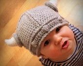 Instant Download - Crochet Pattern - Lael Viking Hat (Sizes Newborn to Adult)