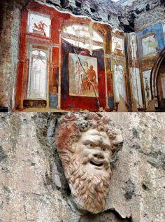 Fresco (above) and relief (below), Herculaneum