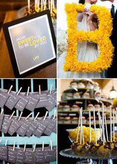 a yellow and gray DIY wedding in denver colorado on COUTUREcolorado