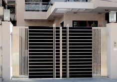 modern gate design 2018 side gates for houses modern gate design gate and fence modern steel gate front gate designs home improvement license renewal nj Simple Gate Designs, Modern Main Gate Designs, Iron Main Gate Design, Home Gate Design, House Main Gates Design, Main Door Design, House Front Design, Small House Design, Modern Gates
