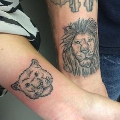 For a successful and happiest life you have to depend on each other just li Forearm Tattoos, Finger Tattoos, Sleeve Tattoos, Lion Tattoo Design, Tattoo Designs, Tattoo Ideas, Tattoos For Women, Men Tattoos, Matching Tattoos