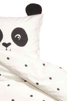 Komplet pościeli w kropki - Biały/Panda - HOME | H&M PL