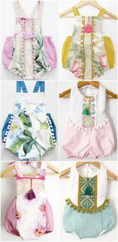 Beautiful Handmade Boho Baby Rompers | VivaBohoKids on Etsy