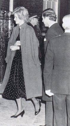 1985-02-11 Diana and Charles at 10 Downing Street at a Reception in honour of the Commonwealth Youth Exchange Council