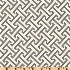 Waverly Cross Section Charcoal - Discount Designer Fabric - Fabric.com