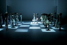 Alexander Mcqueen chessboard fashion show- a classic, but so great