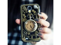 #3D Vintage Metal Style + Pocket Watch #Samsung Galaxy S4 #Case