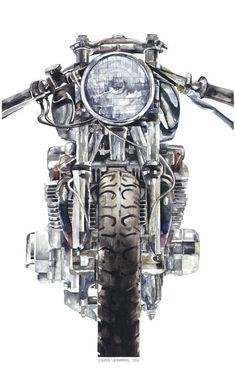 MOTORHEADS | Claude | Illustration #grafica #illustrazione #moto #vintage