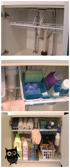 12 Amazing Kitchen Sink Organization Ideas Having a clean and organized kitchen eases your tasks much better than a cluttered one. These are my 12 amazing kitchen sink organization ideas to help you! Bathroom Organization, Bathroom Storage, Small Bathroom, Organization Ideas, Organizing Tips, Bathroom Ideas, Bedroom Small, Bathroom Mirrors, Bathroom Faucets