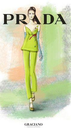GRACIANO fashion illustration PRADA 2015
