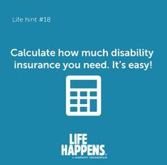 Disability Insurance, Life Insurance, Life Happens, Shit Happens, Online Calculator, Non Profit, Website, Easy