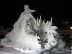 I would love to be talented like this! I would freeze to death, but it would still be worth it!