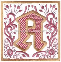 Alphabet Machine Embroidery Designs