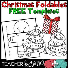 2 Free CHRISTMAS  Foldables, Interactives & Flip Book TEMPLATES Clipart!  You will LOVE the holiday accents.   ***************LOVE these free Christmas foldables?   Check out the full-product download...Christmas & Holiday Foldables, Interactives, & Flip Book Templates******************** Please continue reading to find out more out the 68 piece full-product download. *****These graphics would be just perfect for your INTERACTIVE NOTEBOOKS and works with ANY SUBJECT...