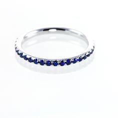 Sapphire Rings | Sapphrie Eternity Rings - Blue Sapphire Full Eternity Rings