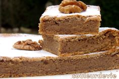 Gâteau fondant aux noix   Couleurdevie